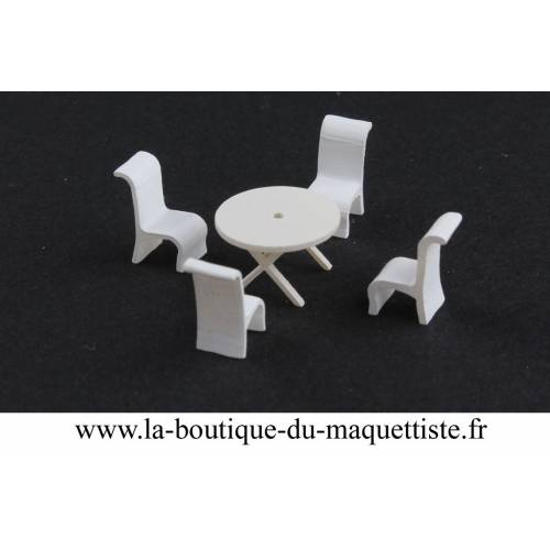 1 table 4 chaise 1/87