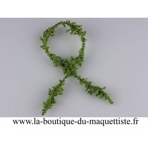 chenille coton vert olive claire