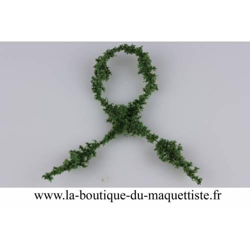 chenille coton vert olive fonce
