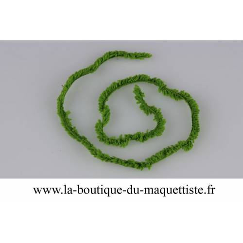 chenille fine vert moyen