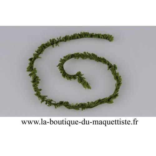 chenille fine vert fonce