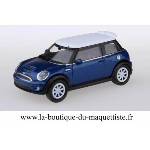 Mini Austin bleue HO